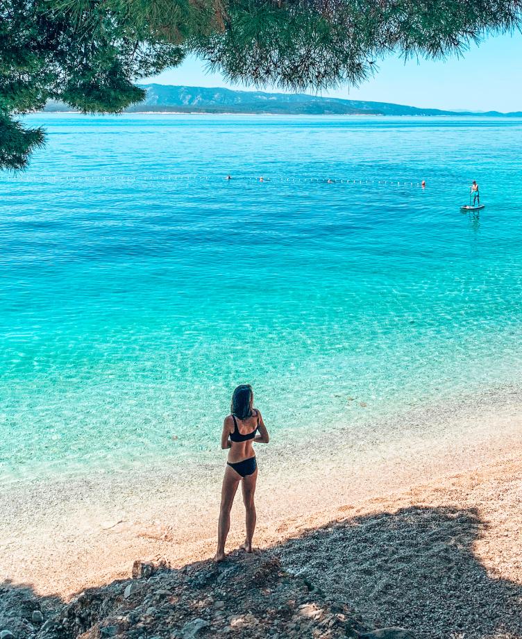 Brac Kroatie strand