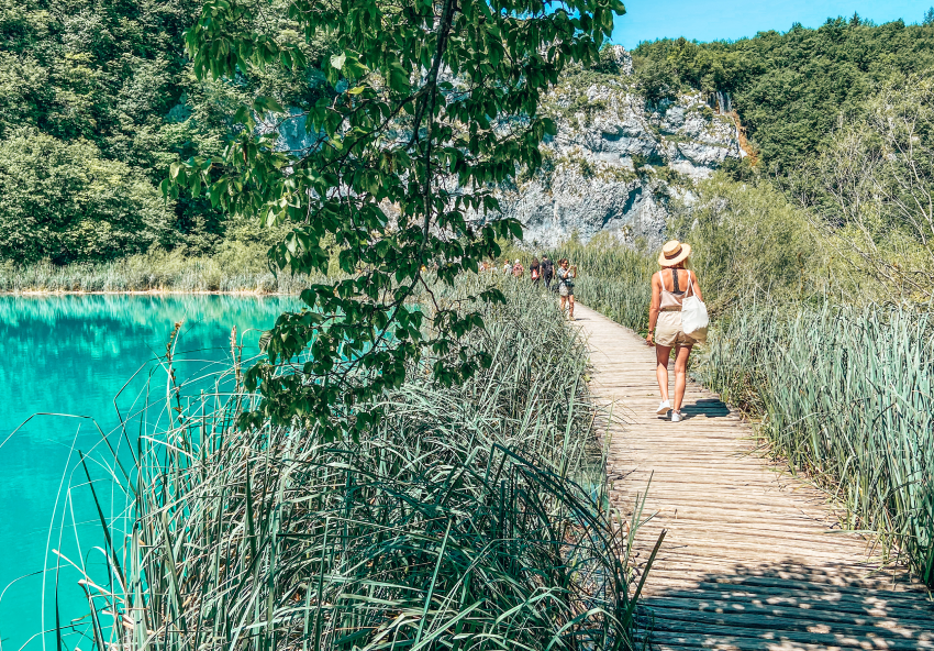 Plitivice meren en watervallen Kroatie