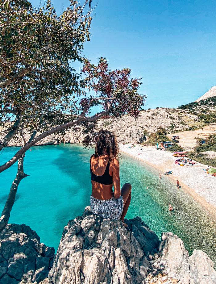 Zala strand het eiland Krk Kroatie