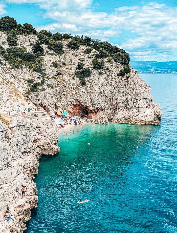 Brsec beach Kroatie