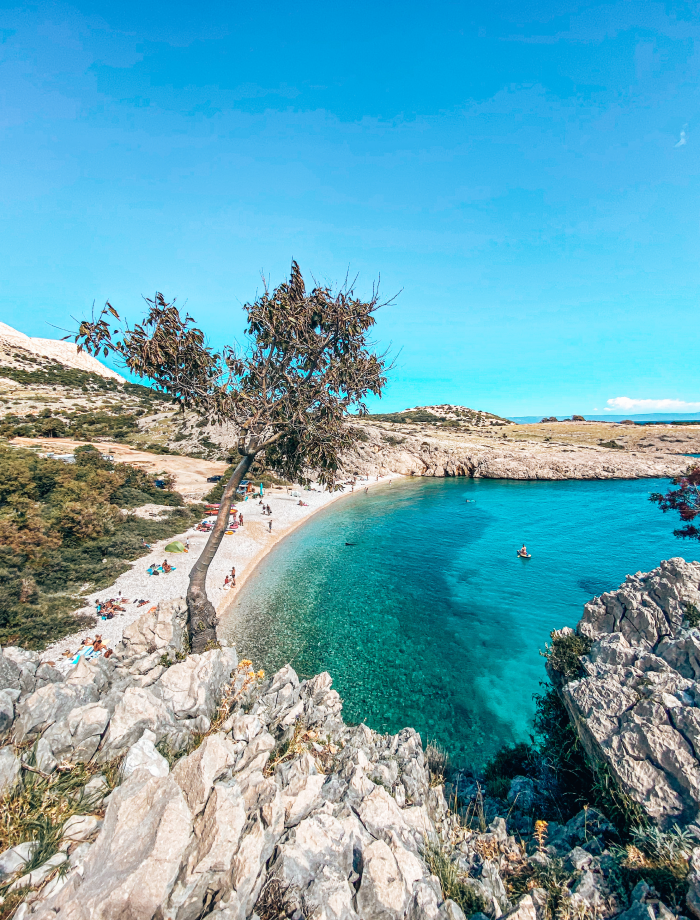 Krk stranden Kroatie