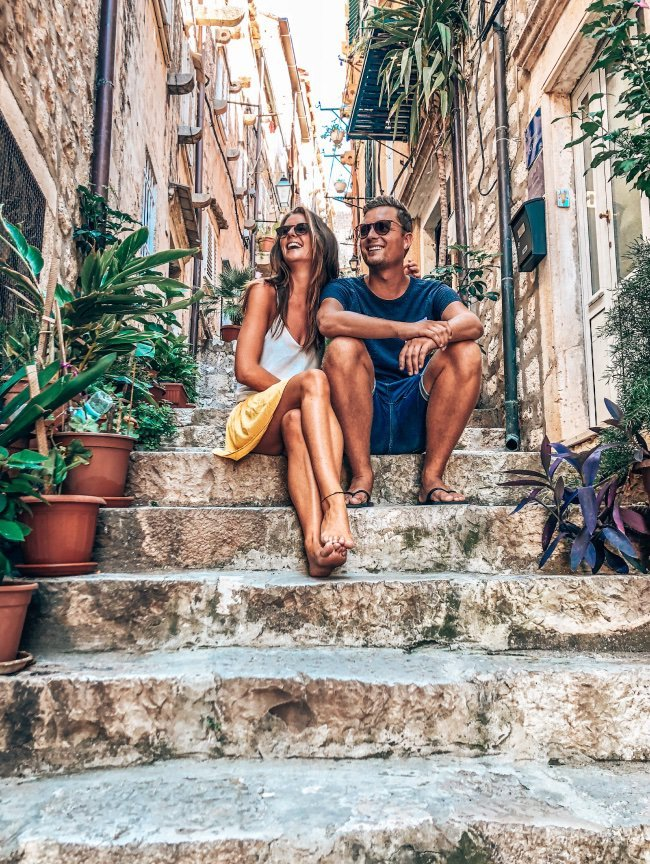 Dubrovnik Kroatie trap