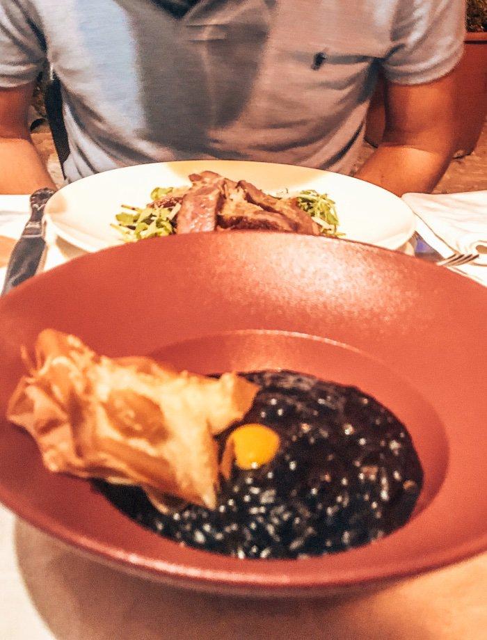 Zwarte risotto