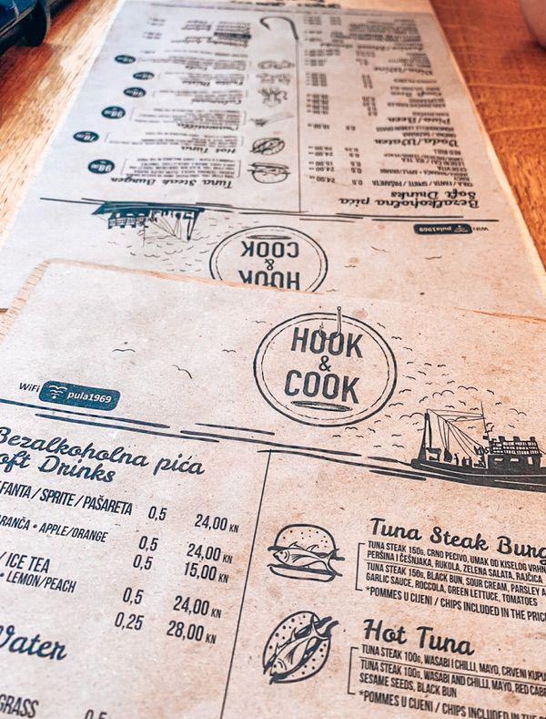 Hook & Cook menu Pula