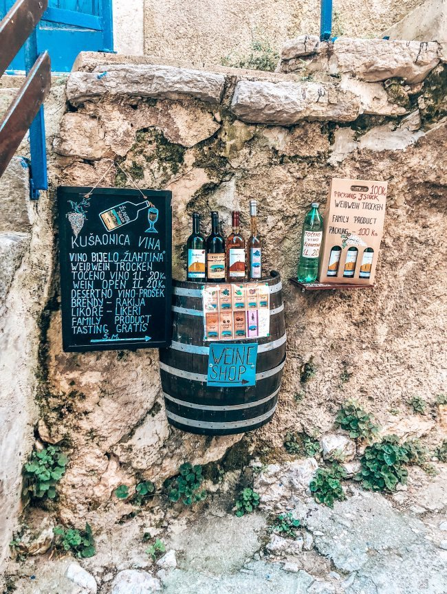 Krk Kroatie wijn