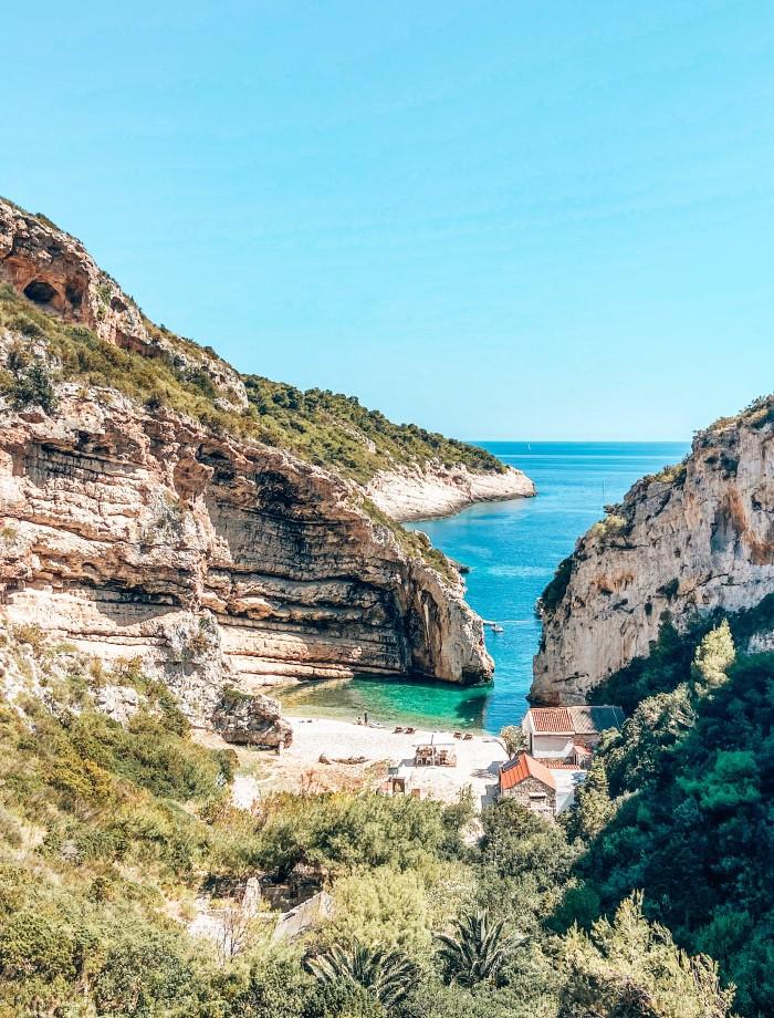 Het eiland Vis Kroatie