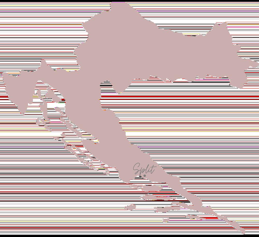 Kroatie Split kaart