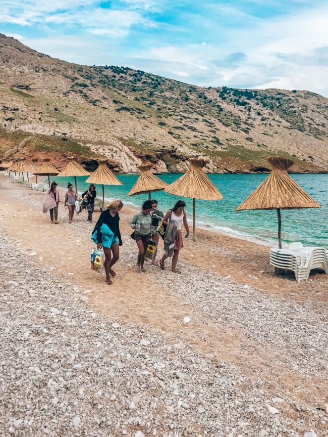 Vela Luka strand Krk Kroatie