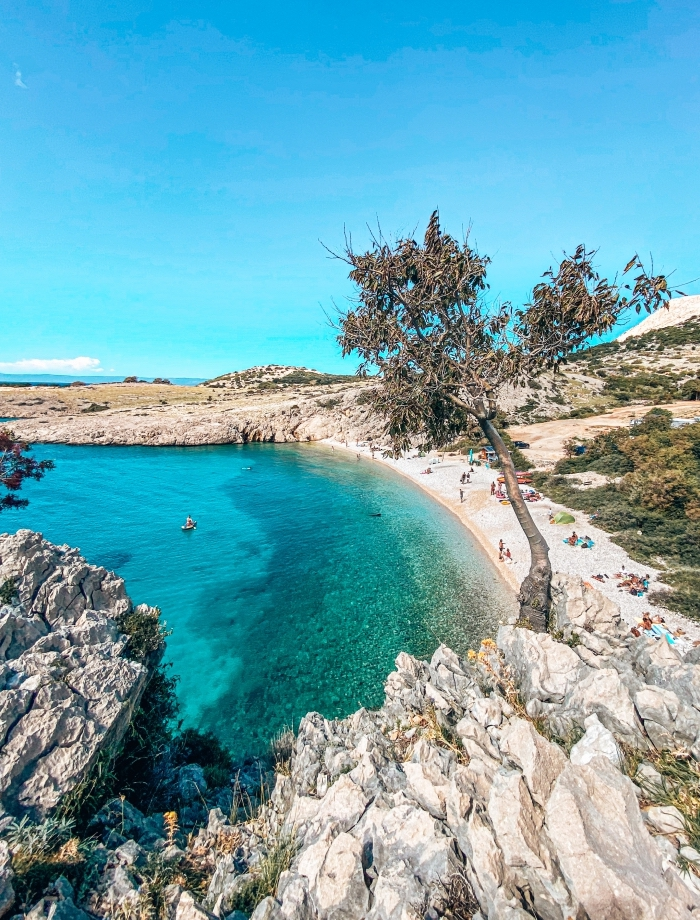 Zala strand Krk Kroatie