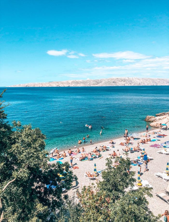 Stranden Senj Kroatie