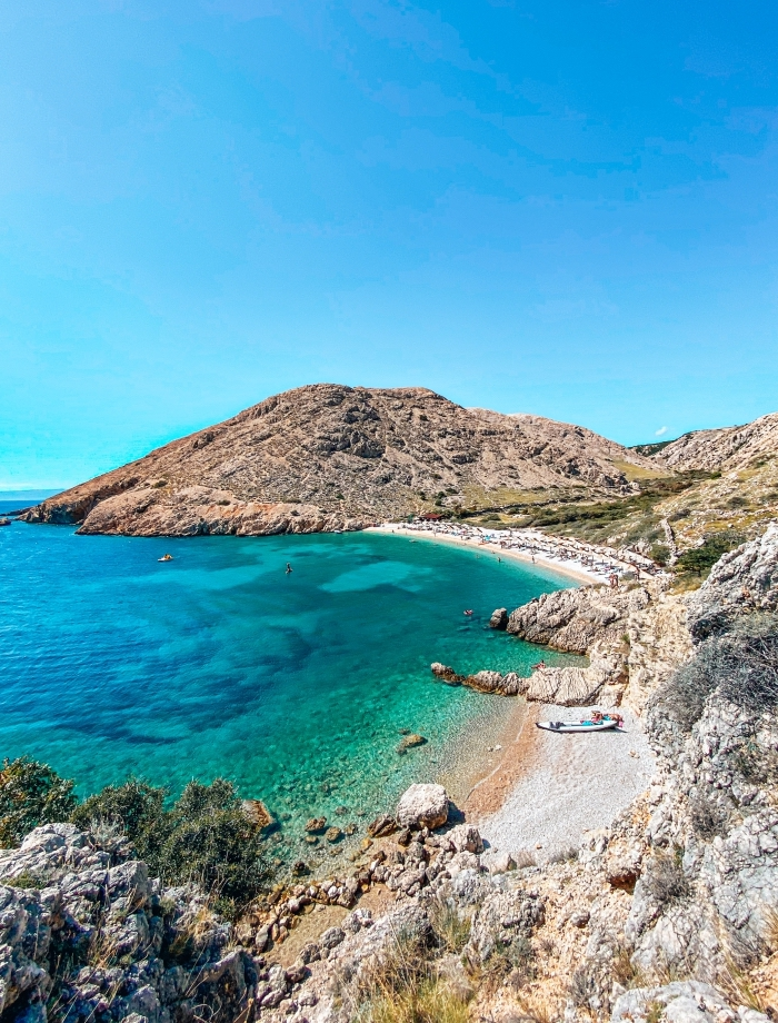 Oprna strand Krk Kroatie