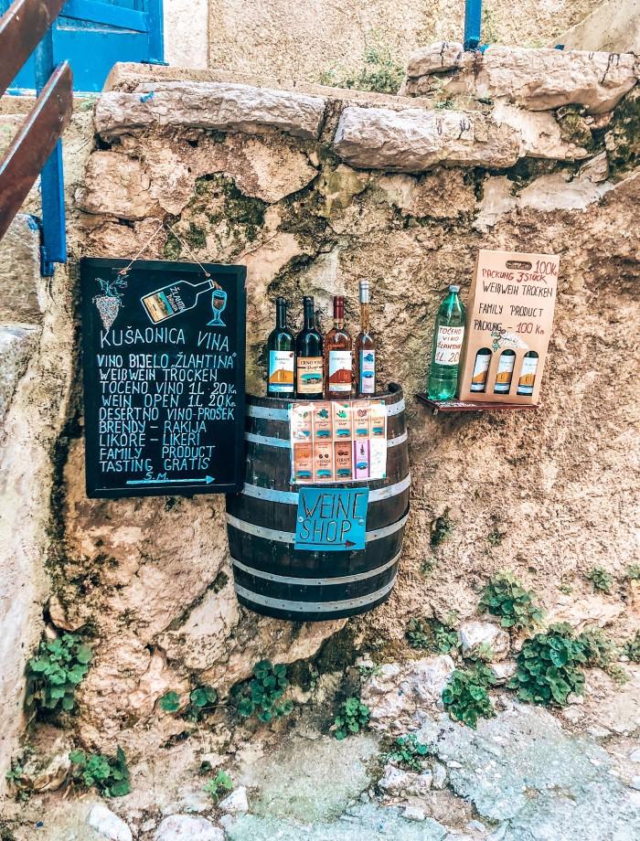 Wijnproeverij Krk Kroatie