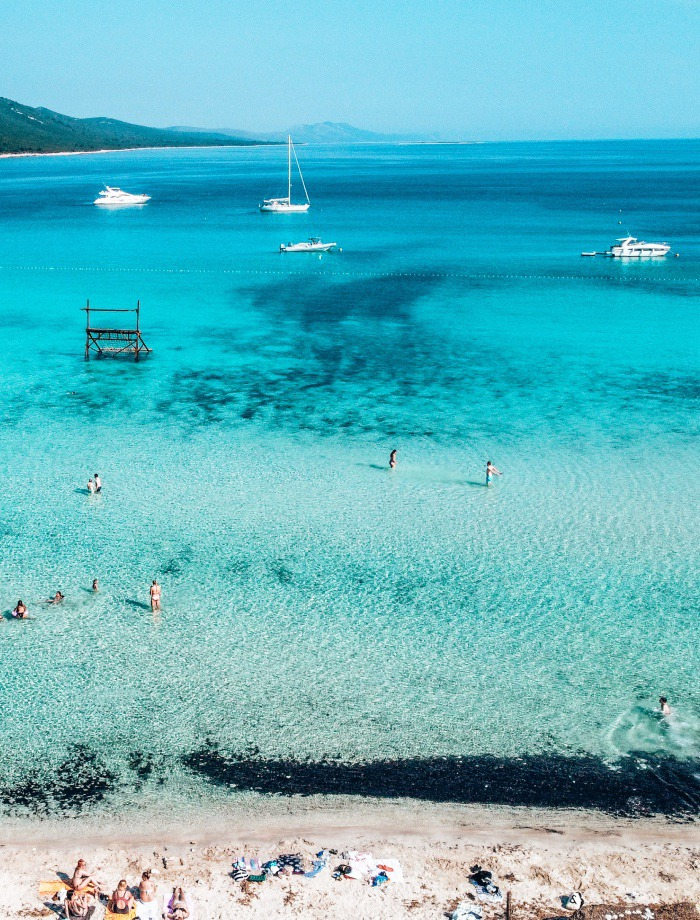 Sakarun beach Dugi Otok Kroatie