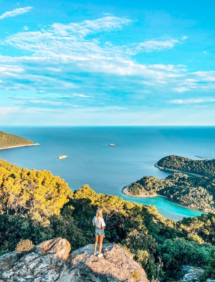 Het eiland Mljet Kroatie