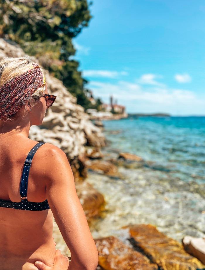 Het eiland Rab Kroatie