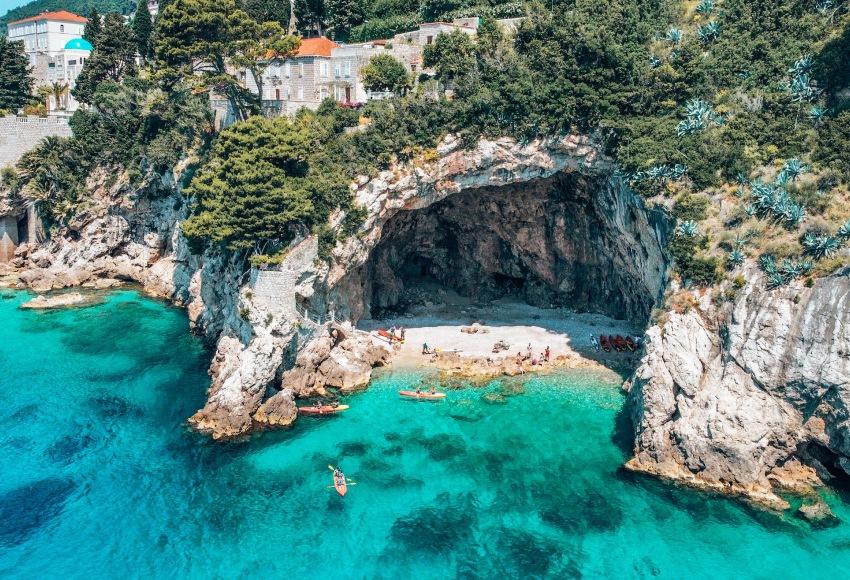 Stranden Dubrovnik Kroatie