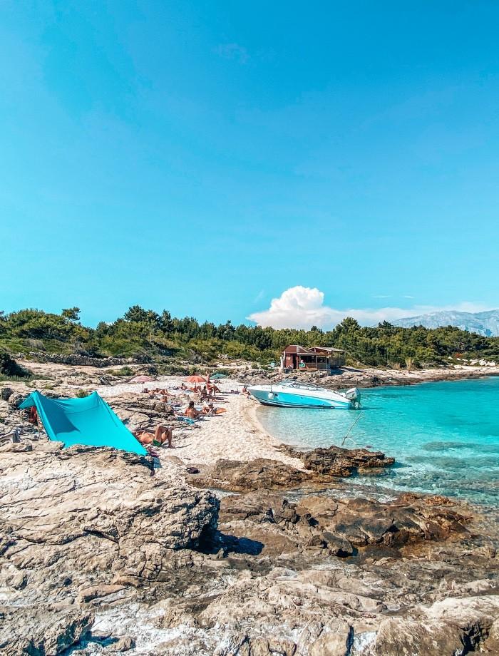 stranden het eiland Brac Kroatie