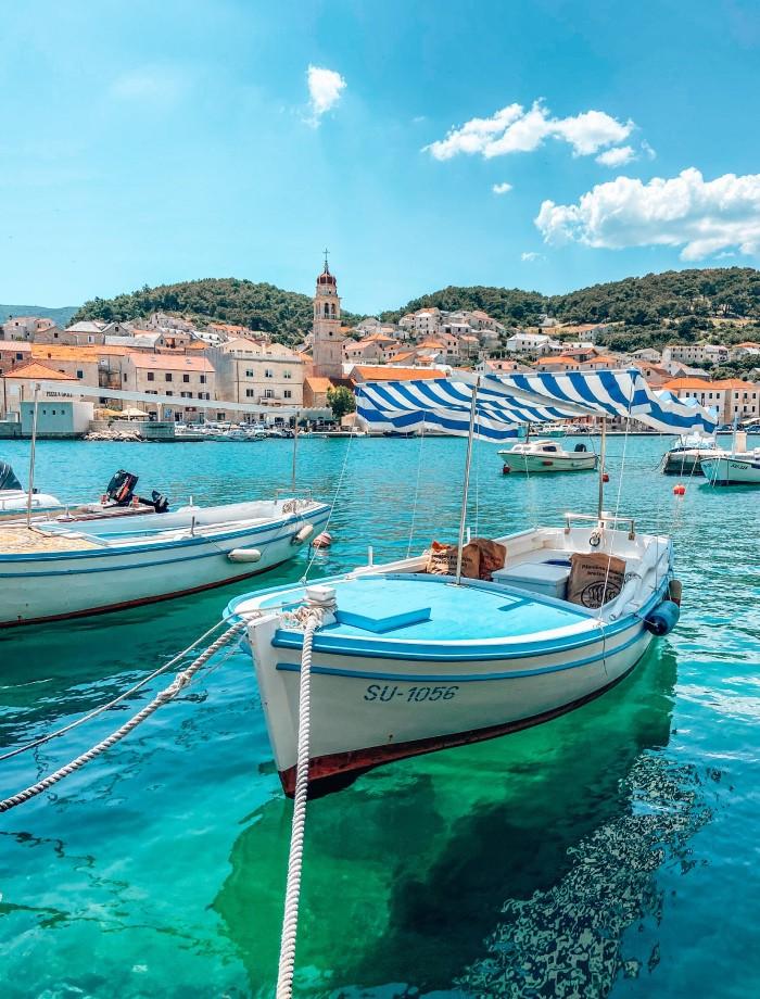 Pusica het eiland Brac Kroatie