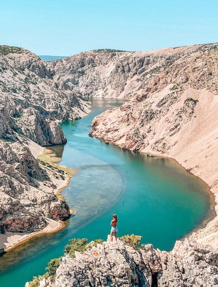 Canyon Zrmanja rivier Kroatie