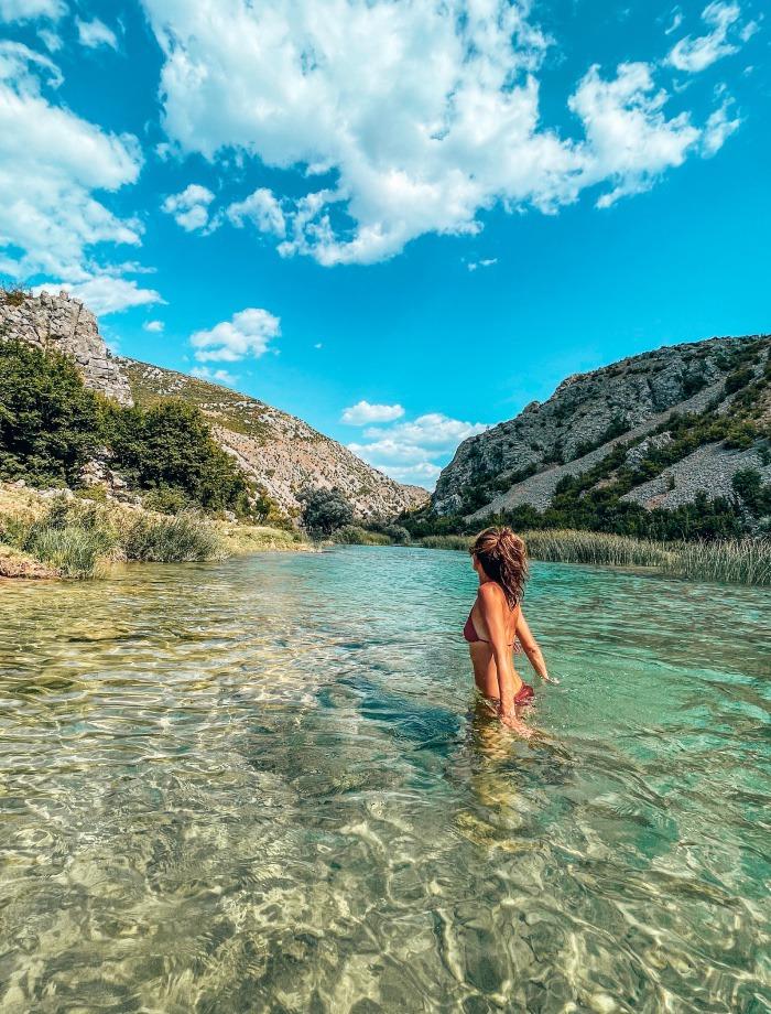 Zrmanja rivier Kroatie